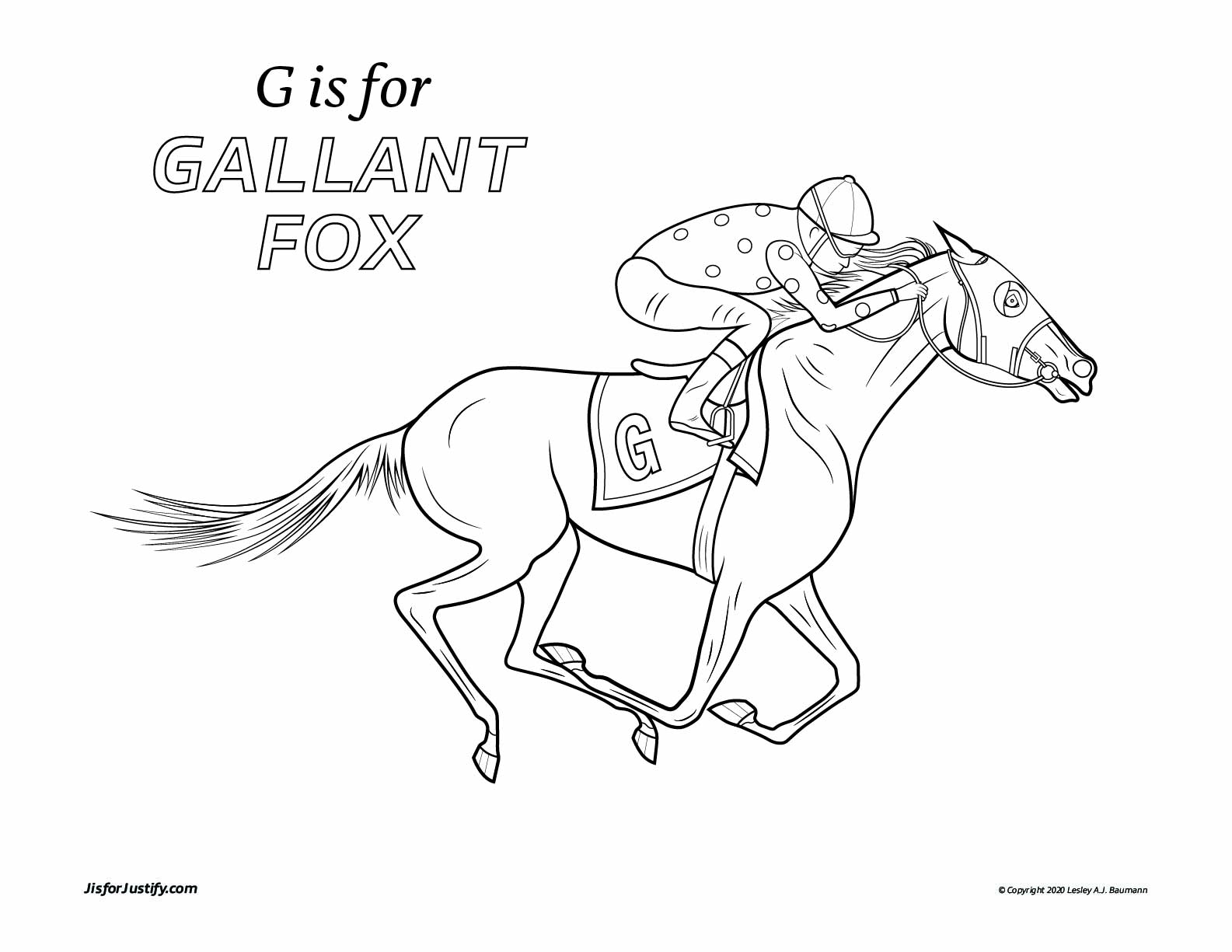 Coloring_Page_Gallant_Fox