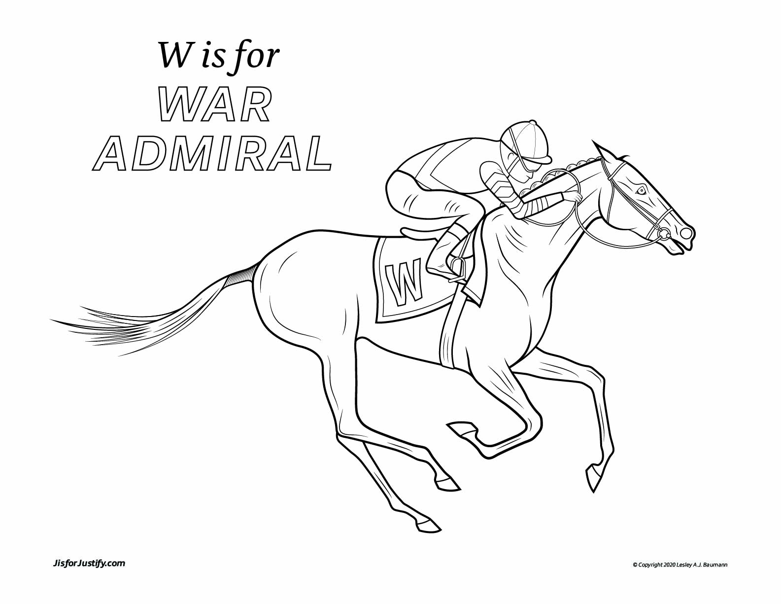Coloring_Page_War_Admiral